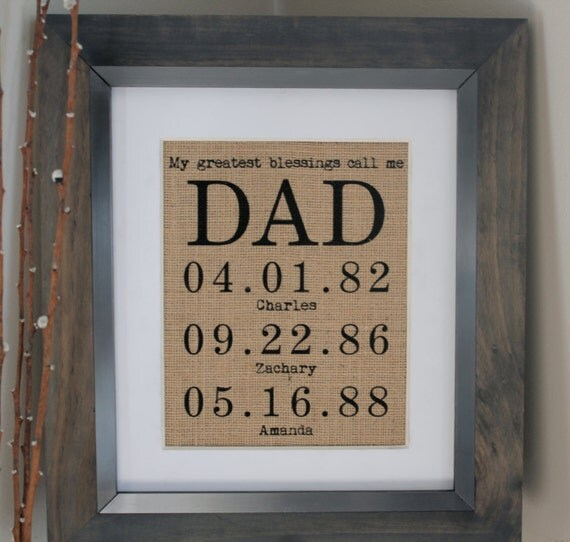 Personalized gift for dad or mom fathers day by emmaandthebean for Creative gifts for dad from daughter