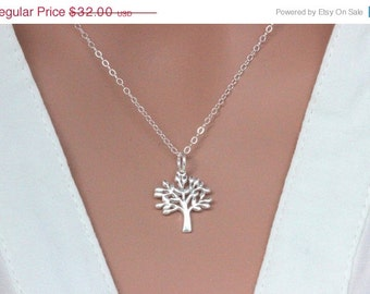 Sterling Silver Tree Pendent, Family Tree  Neckalce, Sterling Silver Tree Necklace, Leaf Necklace, Tree of life jewelry, Tree of life Neckal