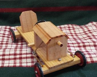Miniature Wooden Soap Box Racer