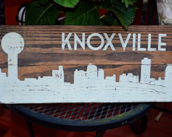 Knoxville Skyline Wooden Sign, Rustic City Skyline, Knoxville Sign, Distressed City Silhouette, Sunsphere
