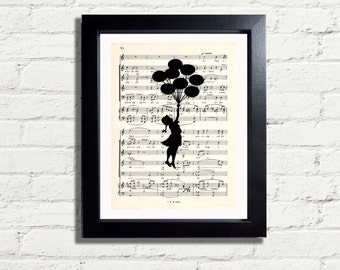 Banksy Art Girl Balloons Graffiti Wall Art Print INSTANT DIGITAL DOWNLOAD A4 Printable Music Image Artwork Wall Hanging Home Decor Gift Idea