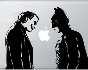Batman vs Joker, The Dark Night, Joker decal, sticker for Apple Computer, MacBook Air, Pro, The Joker Decal, Geekery, for him,for her