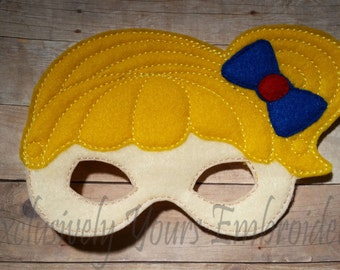 Brite Girl Children's Mask  - Costume - Theater - Dress Up - Halloween - Face Mask - Pretend Play - Party Favor