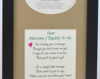 Mommy and Daddy to Be Ultrasound Frame - Choose Your Mat and Frame - New Parents Gift Baby Shower Sonogram Picture - Personalized an Option