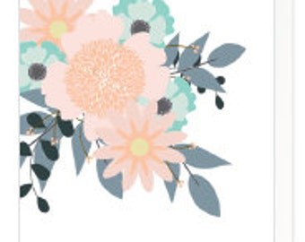 Multi purpose flower greeting card