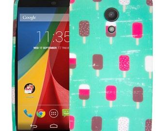 Moto G Case (2nd Gen), Moto G2 Case, Mintsicle TPU Silicone Skin Phone Case Cover