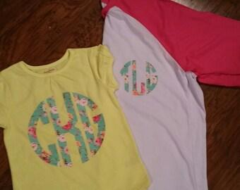Floral Monogram Shirt