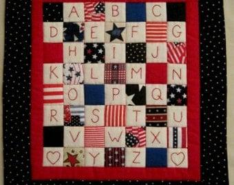 Handmade Americana Mini Quilt Wall Hanging