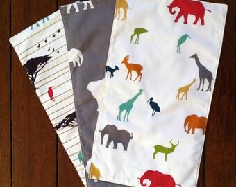 The Plains Burp Cloths Packs of Three