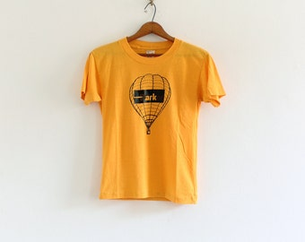 1980s Sportswear air balloon gold yellow graphic t-shirt