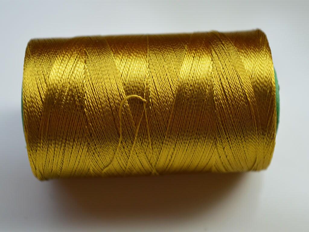 Corn Yellow Silk Thread Spool Art Silk Thread Hand And