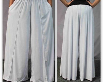 Comfy Plus Size lagenlook Palazzo Pants in Solid color Size XL to 5XL