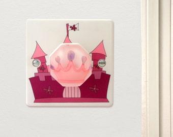 Princess Castle Light Switch - Pink Princess Crown - Princess Bedroom Decor - Princess Decor - Decorative Light Switch - Princess Nursery