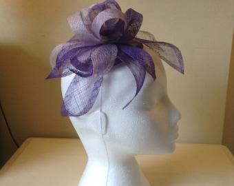 Lilac and purple facinator