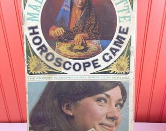 Vintage Madame Planchette horoscope board game parts- no board