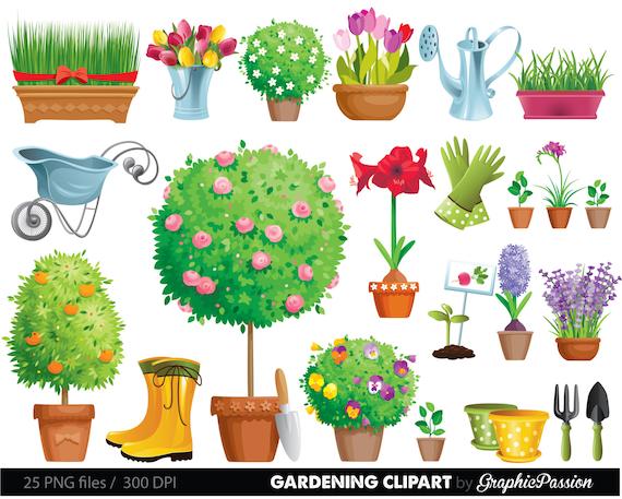 Garden clipart gardening clipart garden tool clipart tool and for Free garden border designs