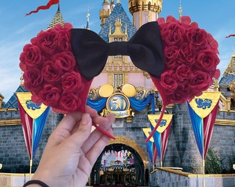 Red minnie ears on sale!