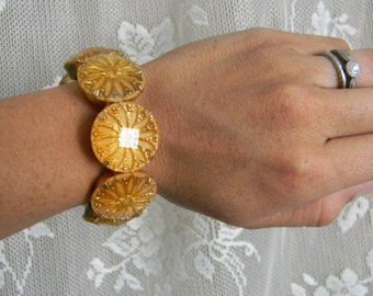 Vintage sunburst bracelet