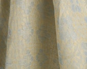 100% Linen Fabric, floral pattern pure linen fabric by the yard, jacquard weave linen fabric by the meter, yardage, natural, organic