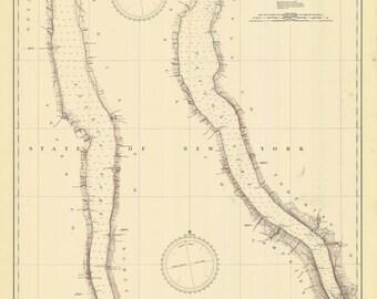 Cayuga and Seneca Lakes Map - 1936