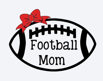 Football Mom Decal~ Add Bow Optional ~ Vinyl Decal~ Football Decal