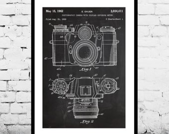 Camera Poster, Vintage Camera Patent, Vintage Camera Print, Vintage Camera, Vintage Camera Decor, Vintage Camera Blueprint, Camera