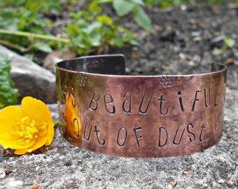 Christian Jewelry-Copper Bracelet-Inspirational quote-Gifts for her-Birthday Gift-Christian Gifts