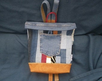 UPCYCLED DENIM PATCHWORK  backpack