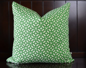 Green Decorative Pillow Cover, Cushion Cover, Geometric Cushions, Modern Home Decor ,  CUSTOM SIZES available