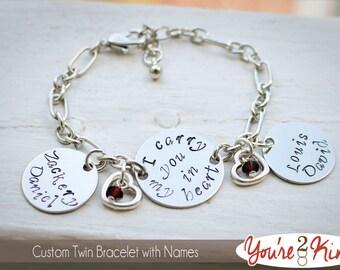 Miscarriage Bracelet - Memorial Bracelet with Name