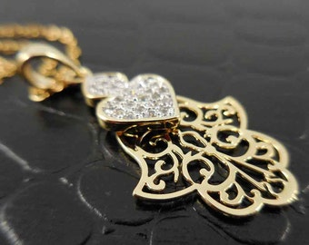 Gold-Fused Cut-Out Hamsa Necklace