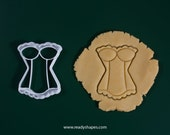 Corset cookie cutter, 3d printed - Lingerie biscuit cutter mold for creative baking