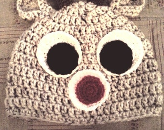 Crochet Rudolph Beanie