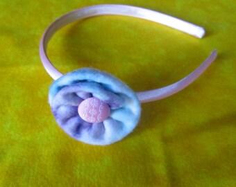 Tie Dye Felt Flower Headband