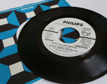 Vintage Phillips Vinyl 45 Record Album - Mytic Moods Orchestra - Early In The Morning - Folk Hippie Music