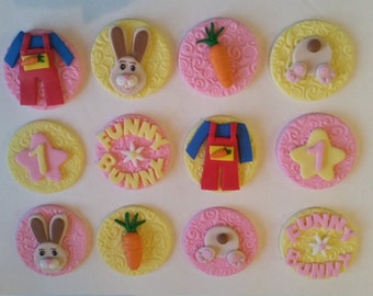 Harry the Bunny Inspired Fondant Cupcake Toppers