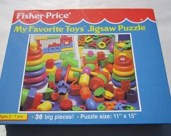 My Favorite Toys Jigsaw Puzzle by Fisher-Price-Complete-Kids Puzzle