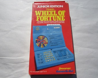 Junior Edition of Travel Wheel of Fortune Board Game-1989-Complete