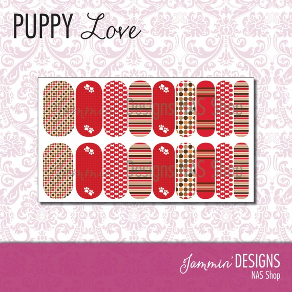 Puppy Love NAS (Nail Art Studio) Design