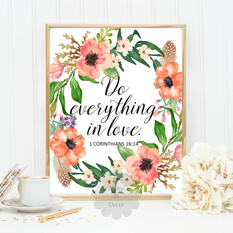 Do Everything In Love 1 Corinthians 16 14 Bible Verse