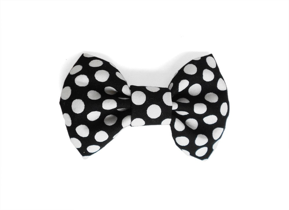 black and white polka dot bow tie bow tie by tailoflove