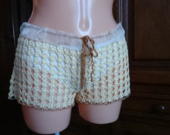 MADE TO ORDER, crochet shorts, custom made
