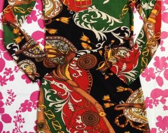 Woman Printed Summer Dress, Vintage Printed dress, Summer dress, V-neck Dress, Party Dress, Smart dress,Printed dress, 3/4 Sleeves Dress