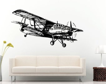 Airplane Stencil Etsy