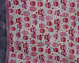 Valentine's Day Owls Pillowcase - Brand New, Ready to Ship