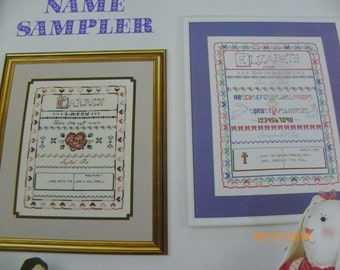 Cross Stitch Pattern Leaflet - Little Women Name Sampler - Features Adult and Child Patterns - By Jeanette Crews Designs, Inc Booklet #68