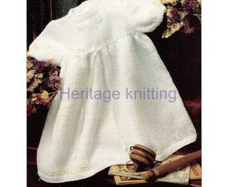 baby girls dress dk knitting pattern 99p pdf
