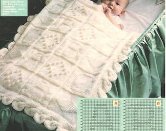 baby block cover dk knitting pattern 99p pdf