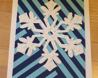 snowflake & stripes card