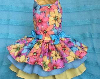 Summer Blossom Dog Dress